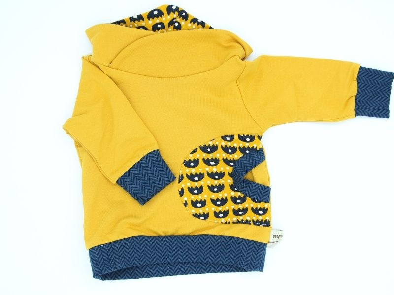 sweat bebe enfant bio jaune mina